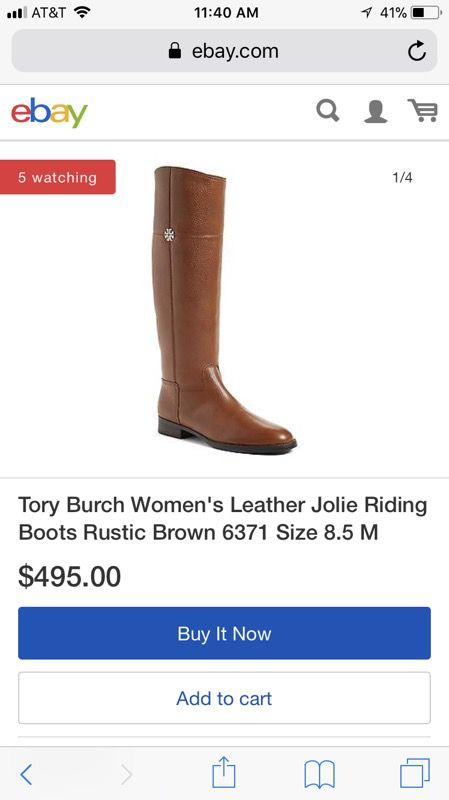 60bf48d928ff Tory burch leather Jolie riding boots for Sale in Delano