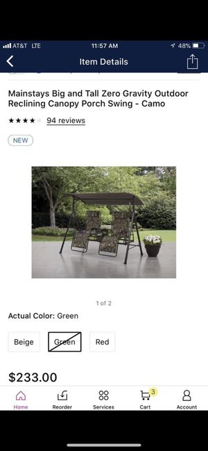 Brand new canopy porch swing NEW IN BOX for Sale in Scottsdale, AZ