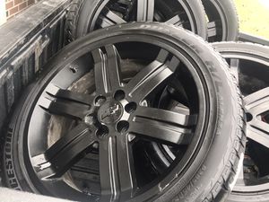 """22"""" rims and tires for Sale in Bartlett, IL"""