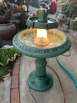 Plastic fountain with light for Sale in East Los Angeles, CA
