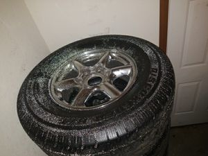 Cadillac chrome rims amd tires for Sale in St. Louis, MO
