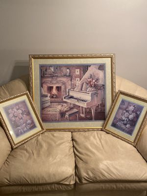 Thomas Kinkade piano/floral set for Sale in Smyrna, DE