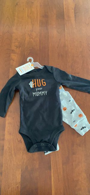 "Carter's Halloween outfit 3 months - ""hug your mummy"" new with tags for Sale in Huntington Beach, CA"