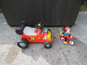 MICKEY MOUSE ROADSTER AND ELECTRIC TOY. READ DETAILS for Sale in St. Louis, MO