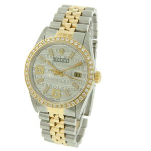 Rolex Datejust- 36mm Steel Gold Watch Silver Rolex Wave Dial Diamonds for Sale in Los Angeles, CA