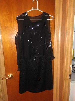 New W/Tags Size 16 Dress BLK Sequin for Sale in La Verne, CA