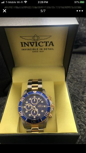 Invicta Mens 1773 Pro Diver Chronograph Gold-Tone and Silver Stainless Steel Watch for Sale in Vienna, VA