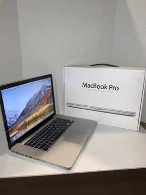 Apple MacBook Pro laptop year 2011 | 15 inches | macOSX High Sierra | i7 CPU | 240SSD + 500GB | 12GB | Battery + Charger + Office + Box for Sale in Doral, FL
