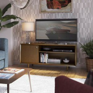 Fairgrove 54 in. Mahogany Cherry Wood TV Stand Fits TVs Up to 60 in. with Cable Management for Sale in Santa Ana, CA