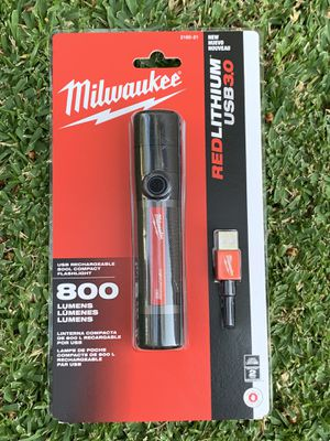 Milwaukee 800 Lumens LED USB Rechargeable HP Fixed Focus Flashlight‼️NEW ITEM ALERT 🚨 🚨🔥 for Sale in Pico Rivera, CA