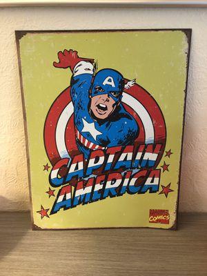 Captain America, wall art decor for Sale in Eugene, OR