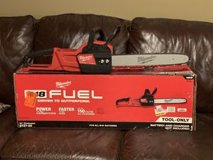 Milwaukee M18 Chainsaw for Sale in Trussville, AL