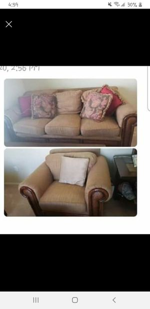 Fireplace and couches for Sale in Lakeland, FL