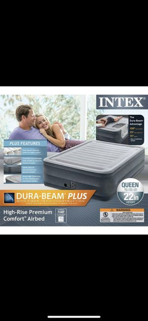 """Intex queen size 22"""" air mattress with pump for Sale in San Jose, CA"""