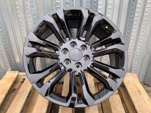 "GMC Truck Rims 22""x9 6x139.7 Gloss Black Last Set for Sale in Hayward, CA"