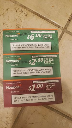 Free Newport cigarette coupons for Sale in Montclair, CA