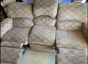 Reclining couch - need gone ASAP for Sale in Sacramento, CA
