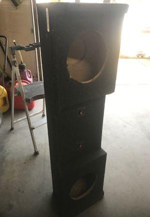 "Speaker box 10"" speakers for Sale in Kingsburg, CA"