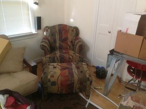 Sitting chair with ottoman for Sale in Fairfax, VA