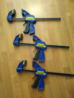 Irwin Quick Grip and Release Clamps for Sale in Harrisonburg, VA