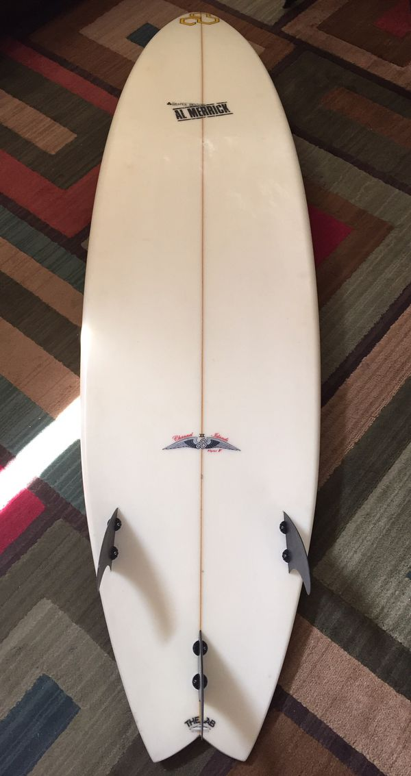 CHANNEL ISLANDS AL MERRICK FLYER F II SURFBOARD 7' EXTRA CLEAN