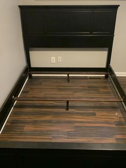 Queen Size Bed Frame With TV Stand for Sale in Bensalem,  PA