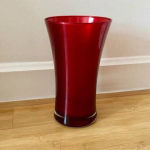 CB2 Ionia Flower Decorative Glass Vase Murrey Dark - Red for Sale in New York, NY