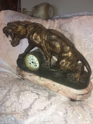 T Catier table clock with marble base for Sale in Columbia, MO