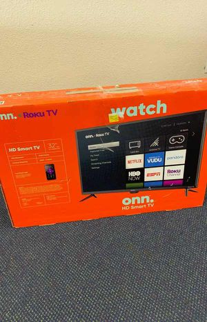 Onn Smart Tv 32 inches!! All new with warranty! Open Box TV! ROKU control! O for Sale in Dallas, TX