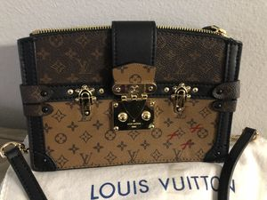 LOUIS VUITTON Trunk Clutch Crossbody Bag Petite Malle for Sale in Chandler, AZ