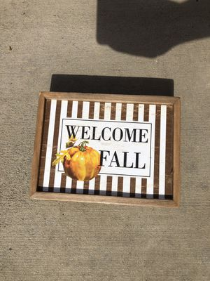 """""""Welcome Fall"""" home decor sign for Sale in Moreno Valley, CA"""