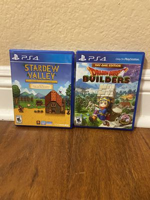 Stardew Valley + Collector's Edition Soundtrack & Dragon Quest Builders PS4 for Sale in Temecula, CA