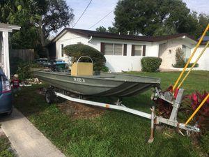 16' aluminum boat 25hp mercury, trailer for Sale in Deltona, FL