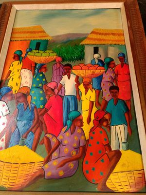 Orginal Haitian Painting by Maurice Guerre for Sale in US