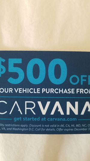 Referral card for $500 off any car for Sale in Gilbert, AZ
