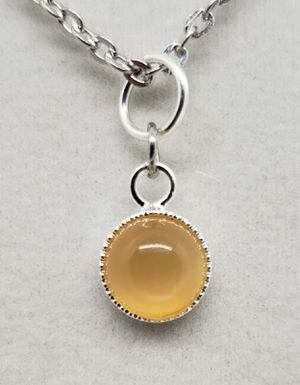 Natural Orange Moonstone Silver Necklace for Sale in Justin, TX