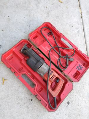 WORKS PERFECTLY HEAVY DUTY MILWAUKE SAWZALL,YOU CAN TEST IT BEFORE YOU BUY IT,FOR ANY QUESTION TEXT ME ANY TIME SE HABLA ESPAÑOL for Sale in Los Angeles, CA