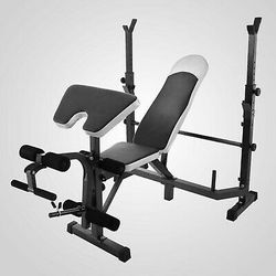 Weight Bench Set With Weight Home Gym Bench Press Lifting Barbell Rack Exercise Equipment for Sale in Los Angeles,  CA
