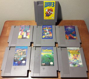 NES Video Game Lot nintendo vintage games super mario bros burgertime tetris for Sale in Marietta, GA