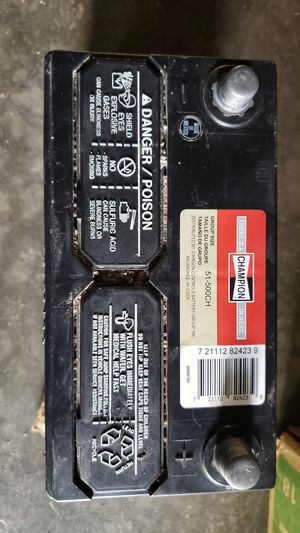 Champion Automotive Battery Group Size 51-500CH for Sale in Fresno, CA