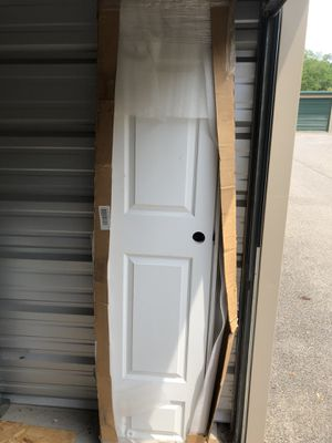 """18""""x 80"""" Colonial Primed Left-handed solid core primed molded Composite single prehung interior door . 19 7/8 wide 4 1/2""""deep 82 1/2"""" tall with Frame for Sale in Glenshaw, PA"""