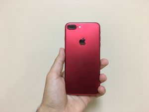 iPhone 7 Plus 128gb red color factory unlocked for any network for Sale in Dallas, TX