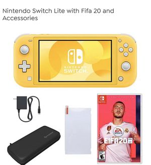 Nintendo Switch Lite with Fifa 20 and Accessories (TURQUOISE) for Sale in Martinez, CA