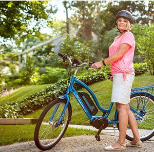 "New!! Bike, electric bike, 7 speeds 26"" wheels unisex electric bike, bicycle , blue for Sale in Phoenix, AZ"