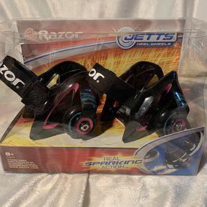 Razor Jetts Heel Wheels Real Sparks Aqua/Blue for Sale in Fair Oaks, CA