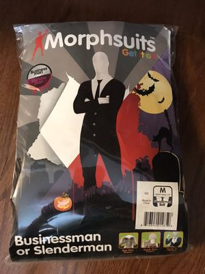 Morphsuits Businessman or Slenderman Halloween Costume Medium for Sale in Houston, TX
