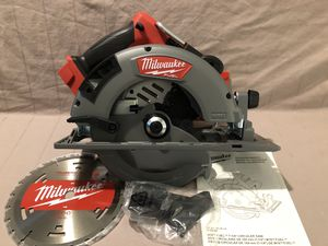 """Brand new never used Milwaukee M18 fuel brushless 7-1/4"""" blade circular saw. Tool and blade only for Sale in Vacaville, CA"""
