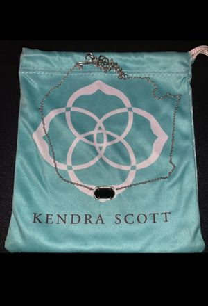 Kendra Scott Silver and Onyx Necklace for Sale in Abilene, TX