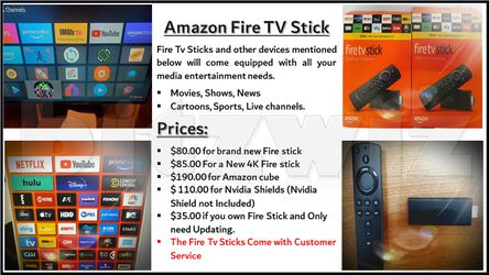 Amazon Fire TV Stick - Stream Free Movies, Shows And Much More. for Sale in Falls Church,  VA