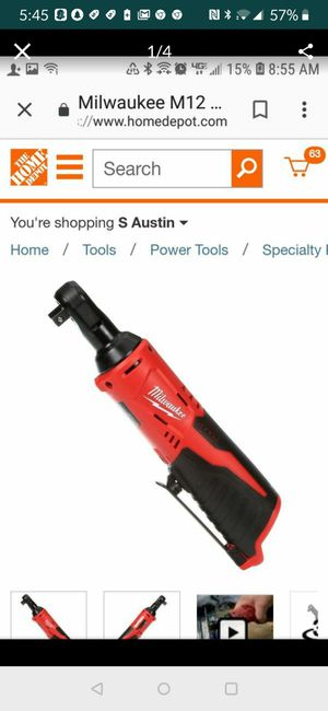 Brand new in box Milwaukee M12 12-Volt Lithium-Ion Cordless 3/8 in. Ratchet (Tool-Only) for Sale in Austin, TX